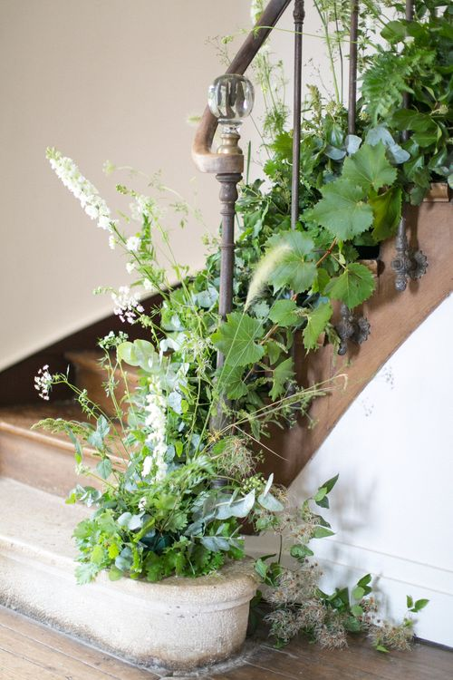 Wildflower Staircase | Bespoke Planning and Styling by Helaina Storey Wedding Design | Image by Anneli Marinovich
