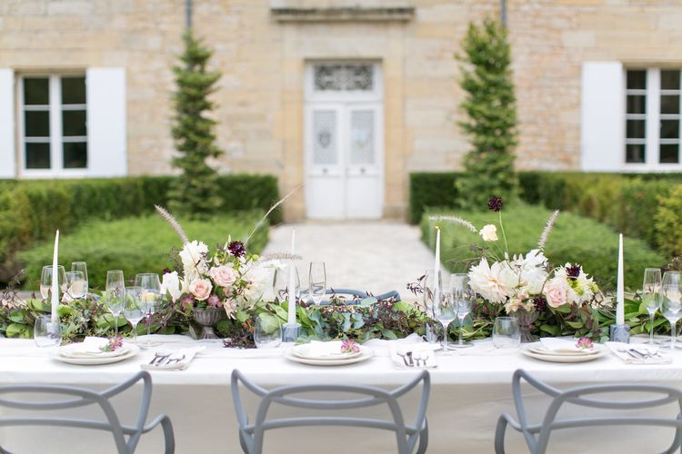 Chateau Wedding Styling with Muted Florals | Bespoke Planning and Styling by Helaina Storey Wedding Design | Image by Anneli Marinovich