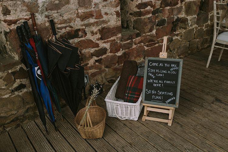 Chalkboard Ceremony Seating Wedding Sign | Rustic Barn & Tipi Wedding at High House Farm Brewery, Northumberland | Maureen du Preez Photography
