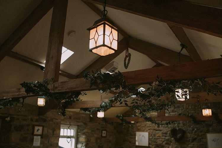 Ivy Vines Wedding Decor | Rustic Barn & Tipi Wedding at High House Farm Brewery, Northumberland | Maureen du Preez Photography