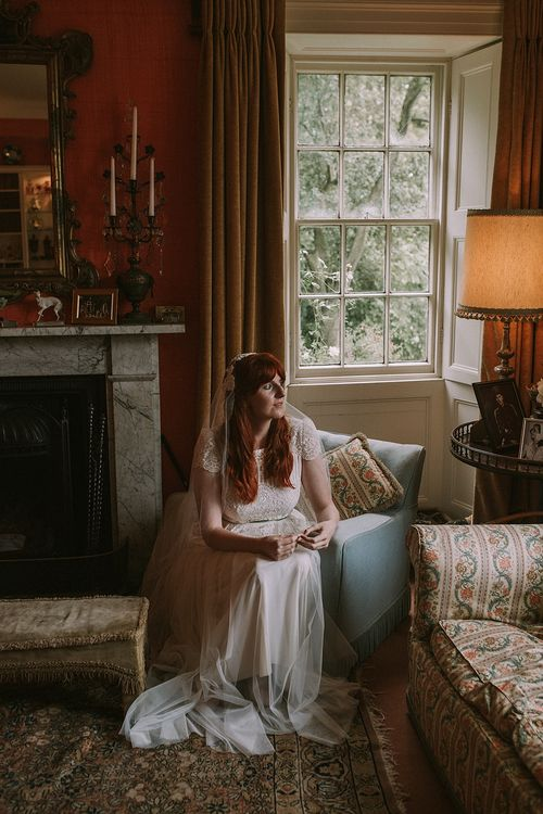 Bride in Katya Katya 'Mirabelle Bridal Gown | Rustic Barn & Tipi Wedding at High House Farm Brewery, Northumberland | Maureen du Preez Photography