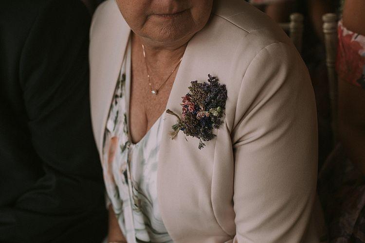 The Artisan Dried Flower Company Buttonhole | Rustic Barn & Tipi Wedding at High House Farm Brewery, Northumberland | Maureen du Preez Photography