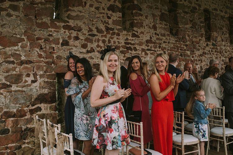 Wedding Ceremony | Wedding Guests | Rustic Barn & Tipi Wedding at High House Farm Brewery, Northumberland | Maureen du Preez Photography