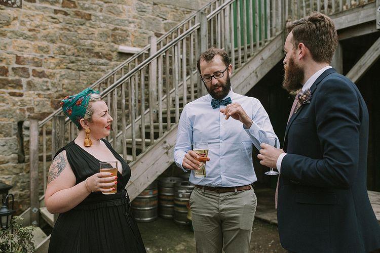 Wedding Guests | Rustic Barn & Tipi Wedding at High House Farm Brewery, Northumberland | Maureen du Preez Photography