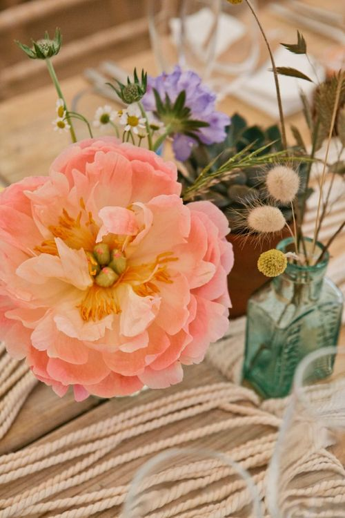Coral Peony Wedding Flower