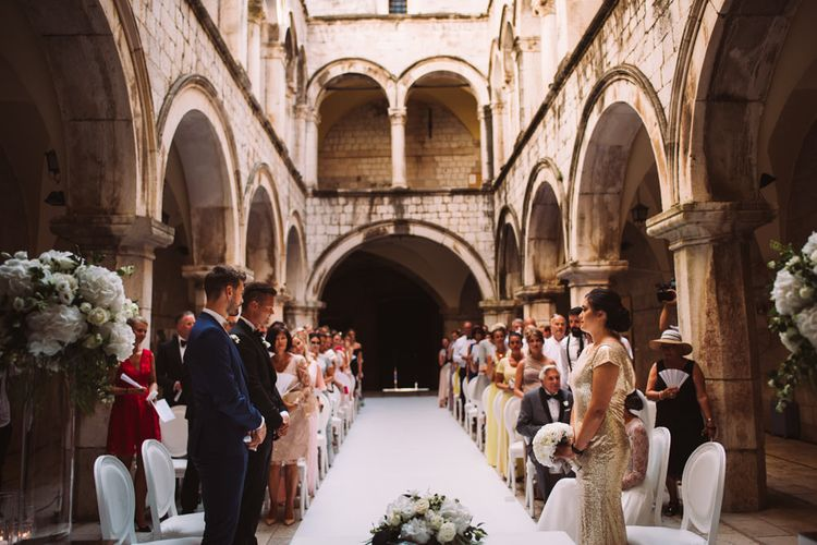 Wedding Ceremony at 16 Century Palace in Croatia