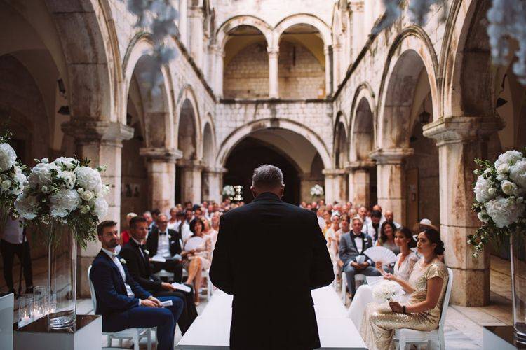 Wedding Ceremony Altar at 16 Century Palace in Croatia