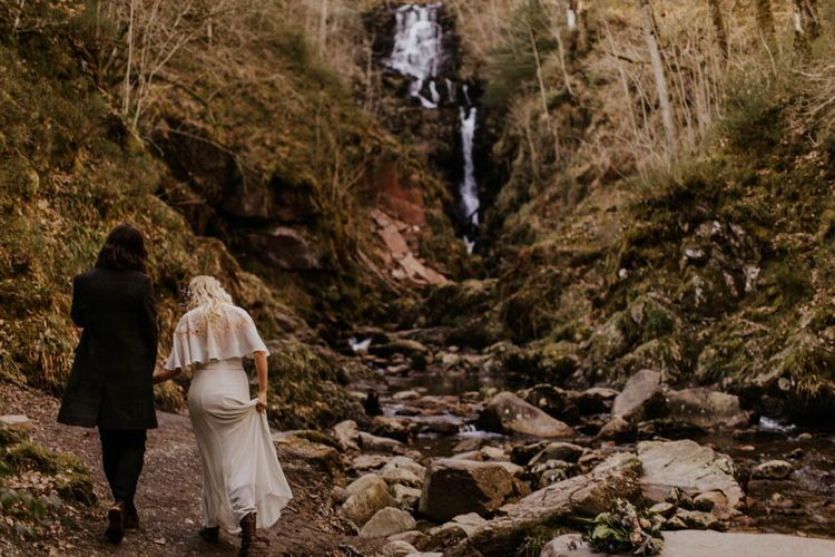 Natural Woodland Highland Bride Inspiration at Loch Lomond, Scotland | ASOS Batwing Dress | Oversized Bridal Bouquet | Lyndsey Anne Photography