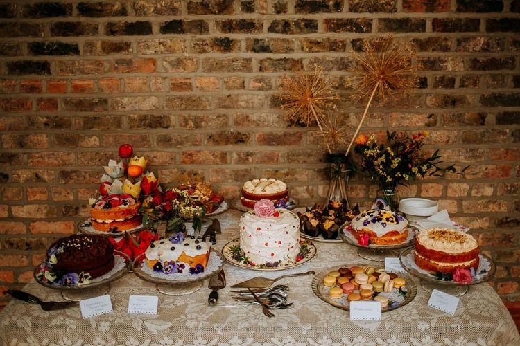 Homemade Cake Dessert Table