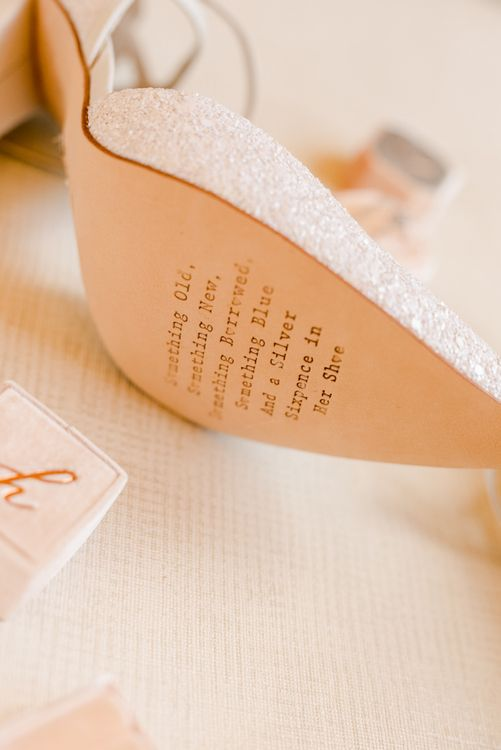 Wedding shoes with personalised soul