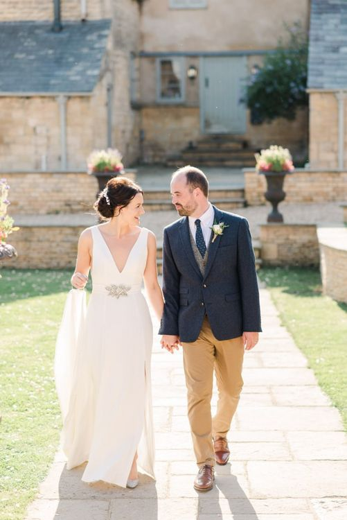 Bride and groom at Gloucestershire wedding venue