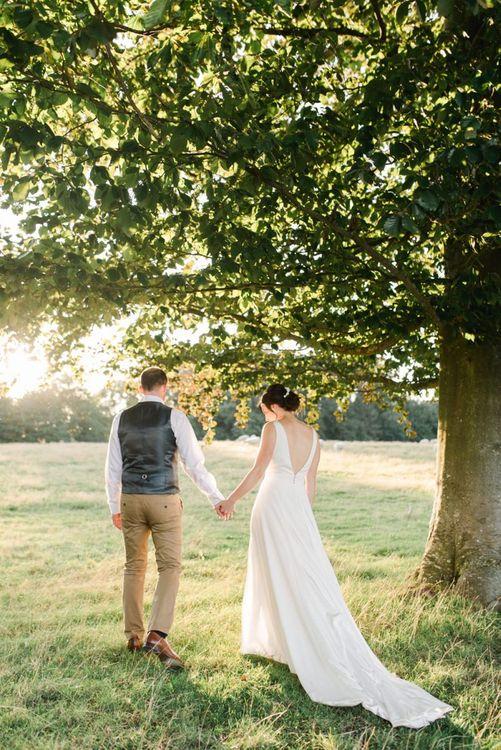 Low back wedding dress with undo