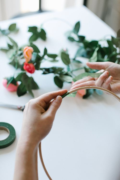 DIY Hoop Bouquet Step 2