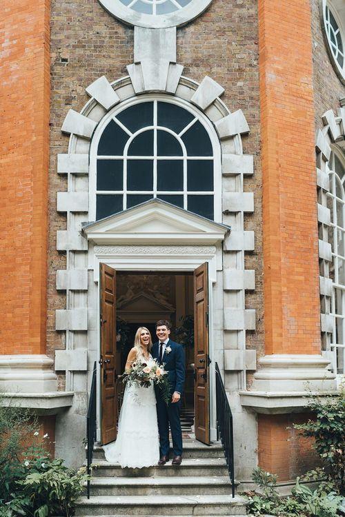Bride and Groom Portrait at Richmond Wedding Venue