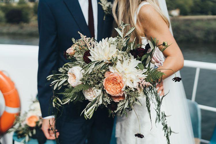 Bridal Bouquet Peachy Tones