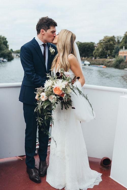 Peachy Tones Bride Bouquet and Wedding Flowers
