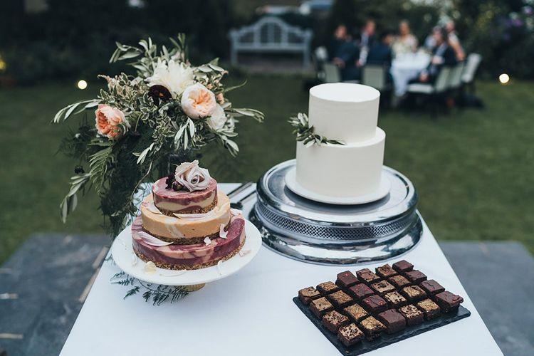 Wedding Cakes Lemond Curd and Raw Vegan Cake