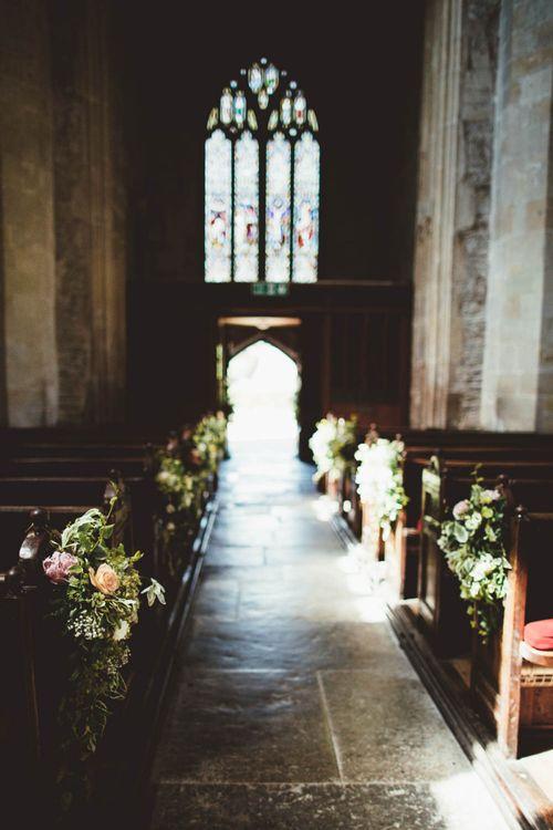 Church Aisle Wedding Flowers