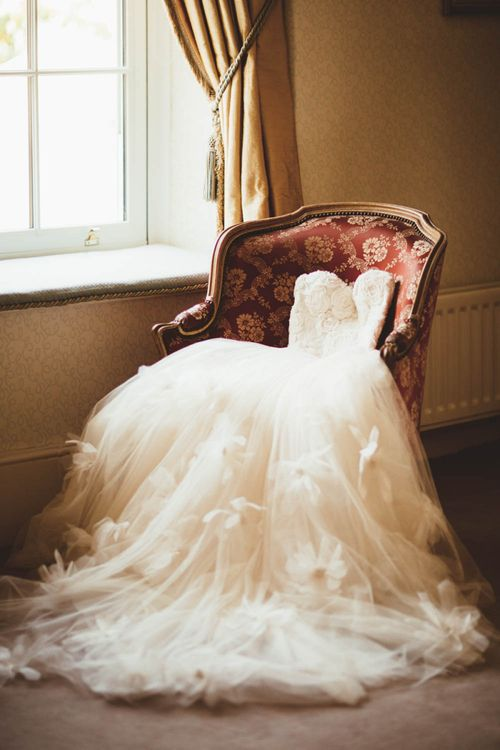 Tulle and Applique Halfpenny London Wedding Dress