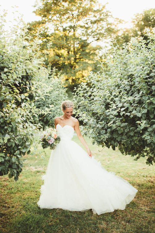Bride in Tulle and Applique Halfpenny London Wedding Dress