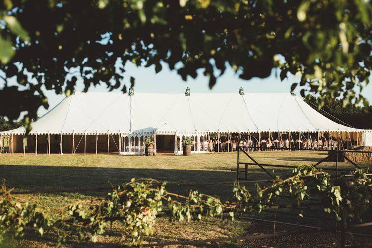 Open Sided Marquee Wedding Reception