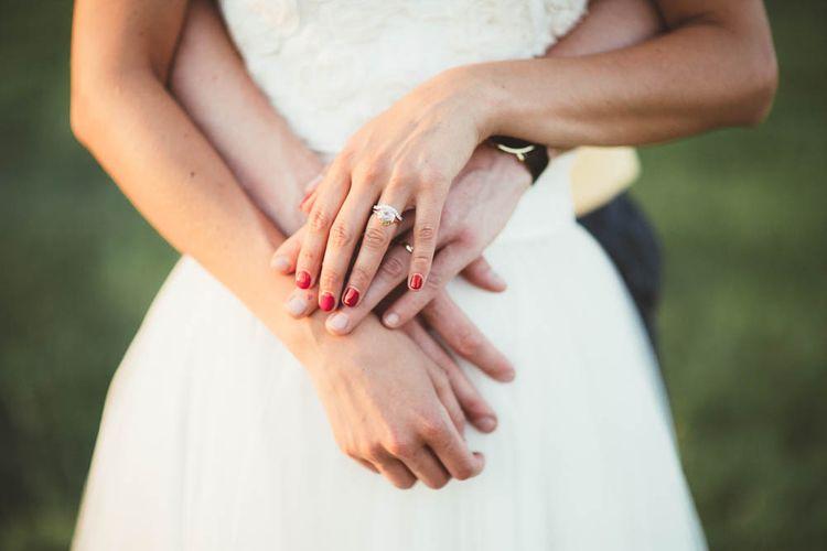 Diamond Engagement Ring and Wedding Ring