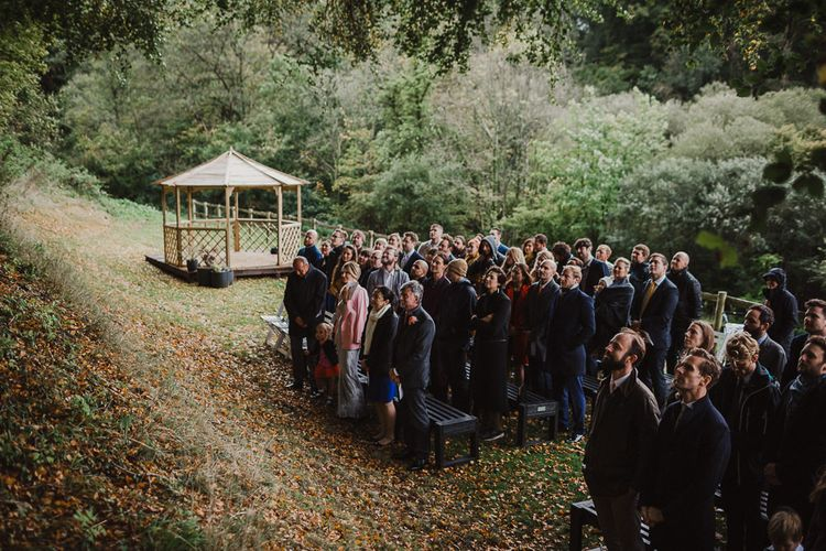 Outdoor Woodland Ceremony at Gorwell Farm in Dorset