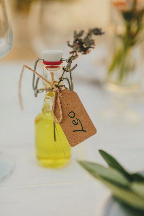 Homemade Limoncello  Wedding Favours | Brightly Coloured Destination Wedding at Masseria Potenti Wedding Venue, Puglia, South Italy | Petar Jurica Photography | Marco Odorino Film