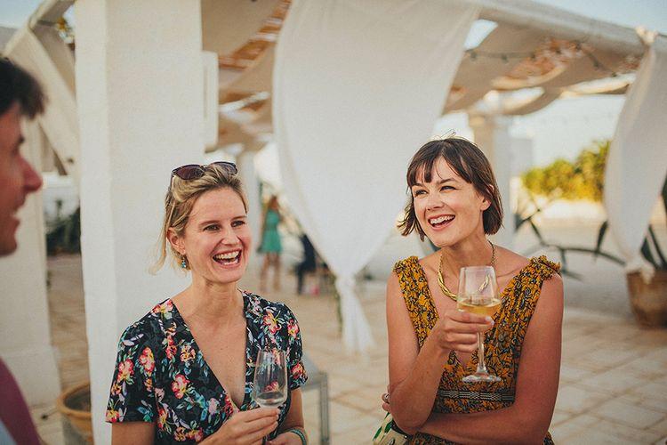 Wedding Guests | Brightly Coloured Destination Wedding at Masseria Potenti Wedding Venue, Puglia, South Italy | Petar Jurica Photography | Marco Odorino Film