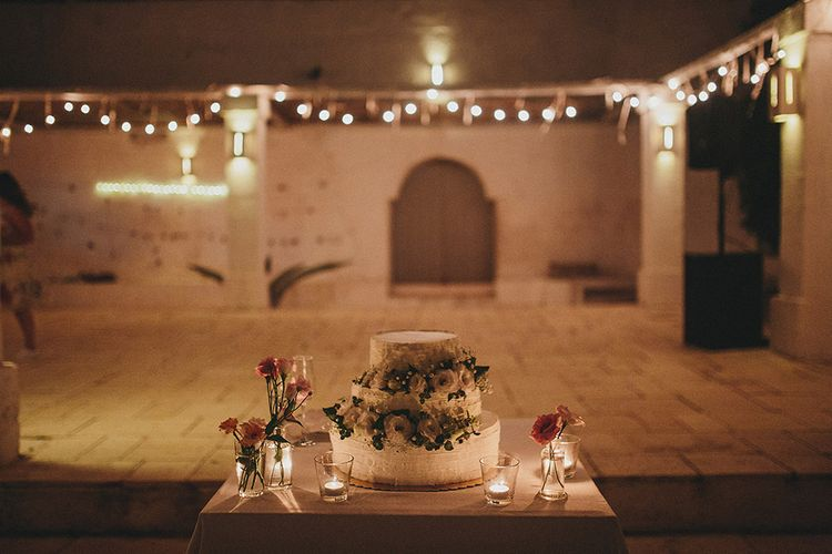 Italian Wedding Cake | Brightly Coloured Destination Wedding at Masseria Potenti Wedding Venue, Puglia, South Italy | Petar Jurica Photography | Marco Odorino Film