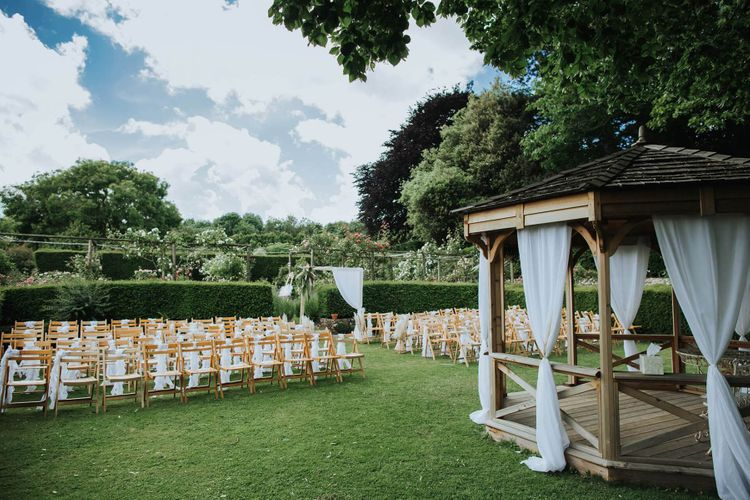 Outdoor Wedding Ceremony At Nettlestead Place Venue