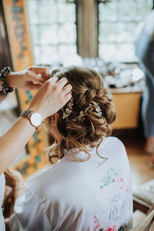 Bridal Hair Up Do With Hair Accessories