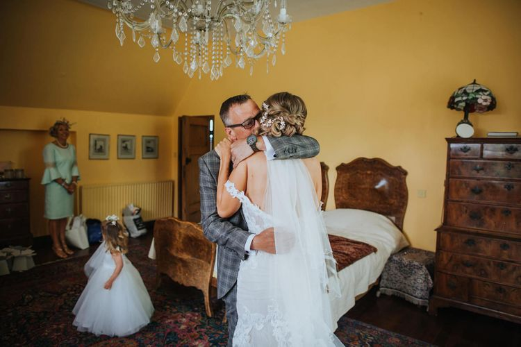 Bride Sees Father For First Time In  Her Wedding Dress