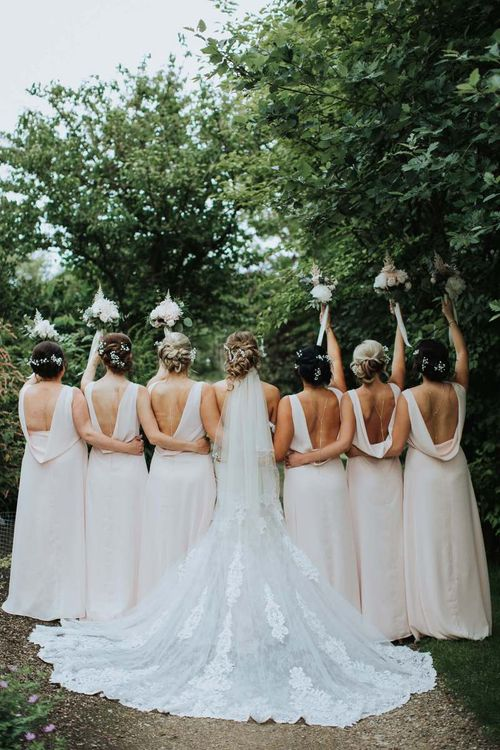 Cowell Back Pink Bridesmaid Dresses