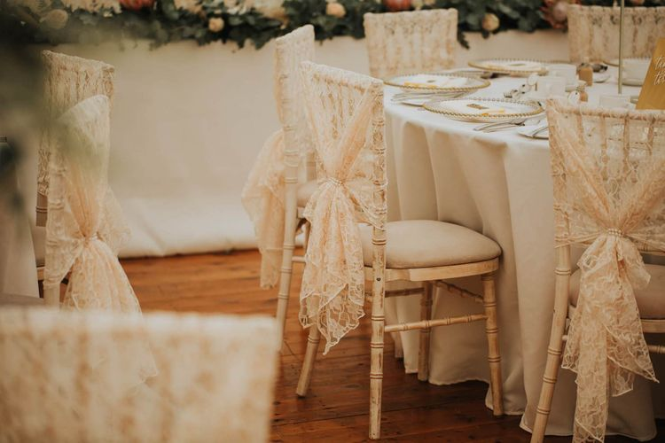 Lace Wedding Chair Back Covers