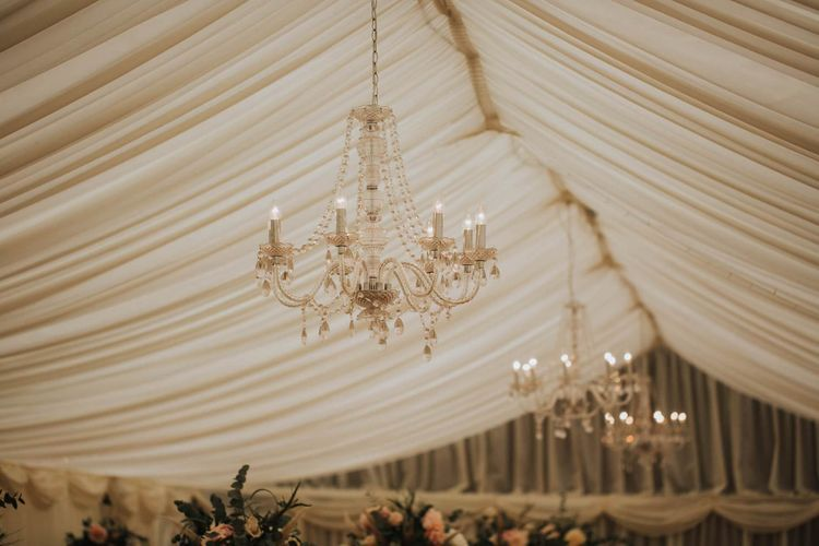 Chandeliers In Marquee Wedding Reception