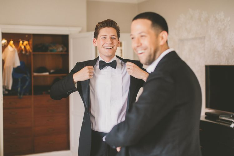 Same-sex Couple Getting Ready on the Wedding Morning
