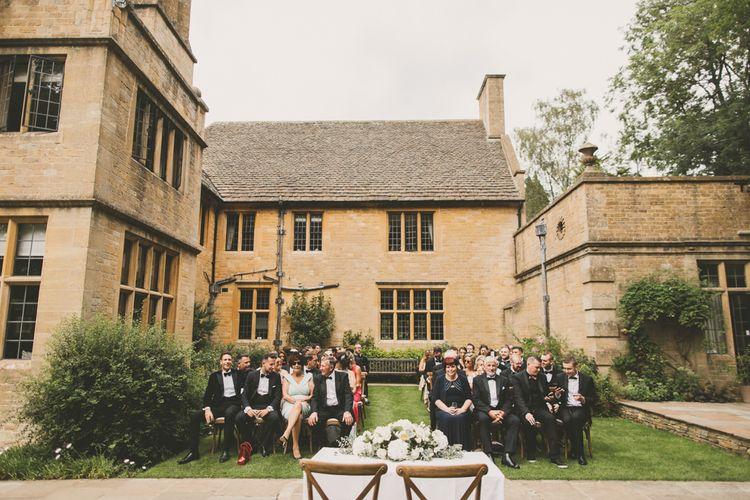 Outdoor Wedding Ceremony at Worcestershire Wedding Venue Foxhill Manor