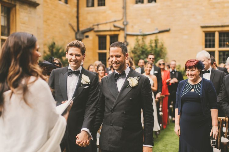 Same Sex Outdoor Wedding at Worcestershire Wedding Venue Foxhill Manor