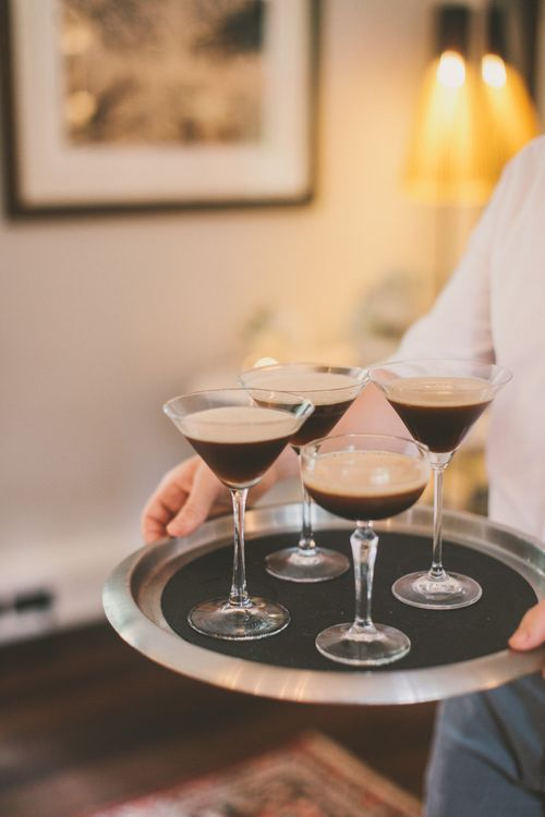 Tray of Expresso Martini Cocktails