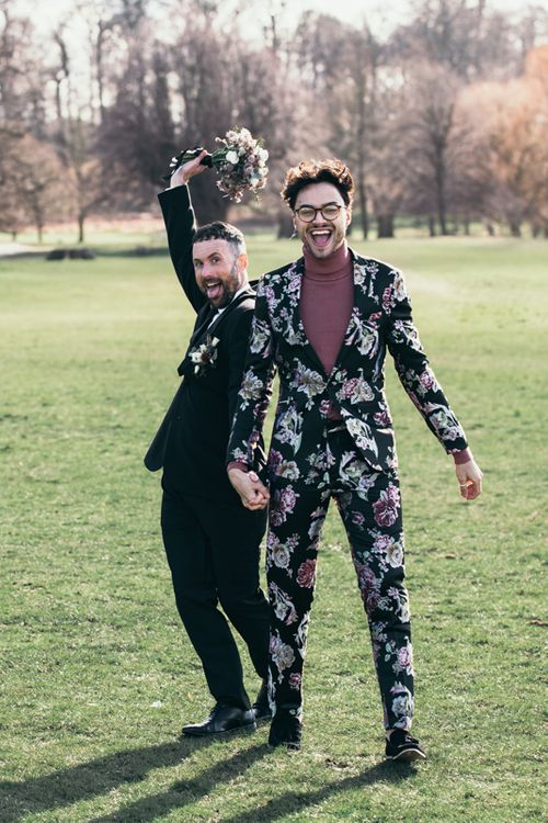 Two Grooms For Pink & Black Wedding Inspiration Shoot