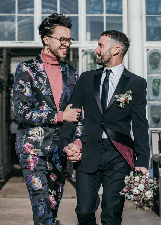 Two Grooms at Woolaton Hall Inspiration Suit