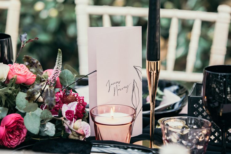 Black And Gold Wedding Styling