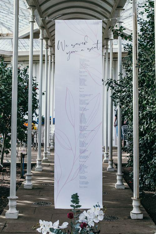 Cool Wedding Seating Plan Sign