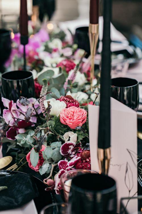 Pink & Black Wedding Floral Inspiration