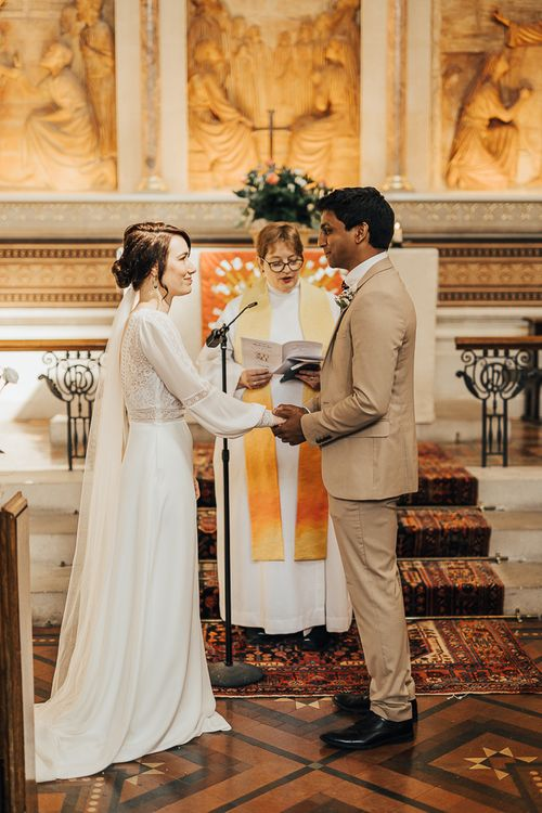 NHS Doctor and Nurse exchanging vows at hospital chapel