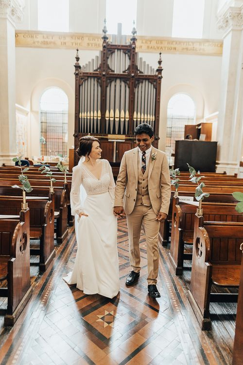 NHS Dr Annalan Navaratnam and Nurse Jann Tipping get married at hospital chapel