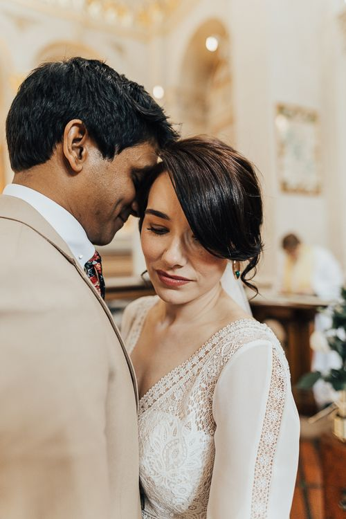 Intimate wedding portrait by Rebecca Carpenter Photography