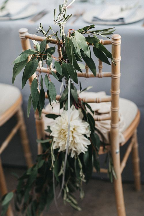 Wedding Reception Decor | Bride and Groom Chair Flowers | Stunning Syon Park Wedding with Quill Stationery Suite | Nancy Ebert Photography