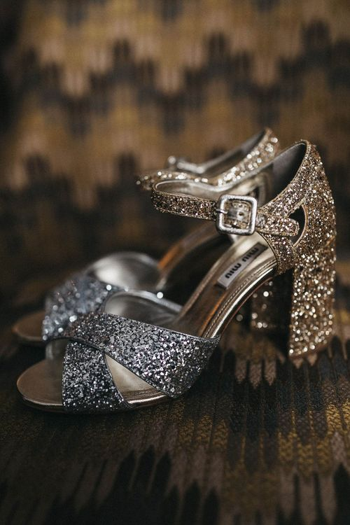 MiuMiu Glitter Block Heels | Stunning Syon Park Wedding with Quill Stationery Suite | Nancy Ebert Photography